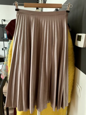 Bershka Pleated Skirt rose-gold-coloured