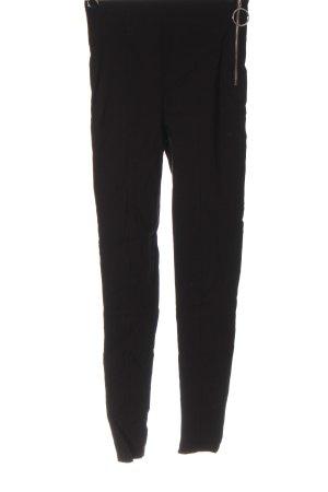 Bershka Drainpipe Trousers black casual look