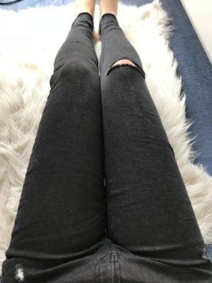 Bershka Jeans cigarette noir
