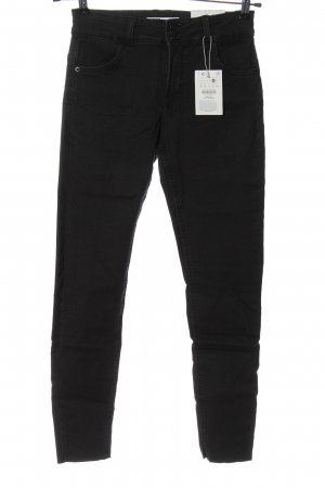 Bershka Jeans cigarette noir style décontracté