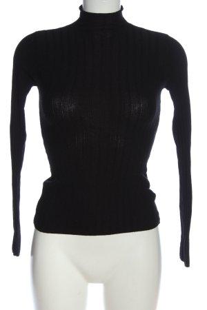 Bershka Turtleneck Sweater black casual look