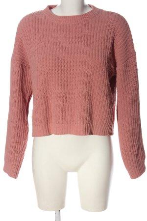 Bershka Rollkragenpullover pink Casual-Look