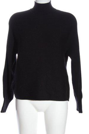Bershka Maglione dolcevita nero puntinato stile casual