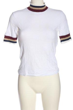 Bershka Koszulka z golfem Wzór w paski W stylu casual