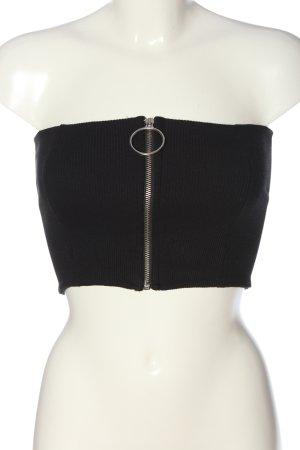 Bershka Haut bandeau noir style décontracté