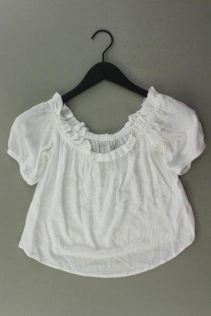 Bershka Bluzka z falbankami w kolorze białej wełny Wiskoza