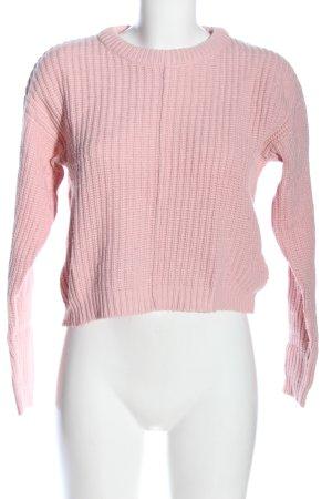 Bershka Rundhalspullover pink Casual-Look