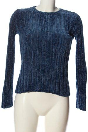 Bershka Rundhalspullover blau Casual-Look