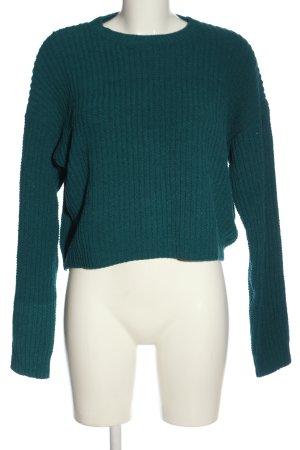 Bershka Maglione girocollo verde stile casual