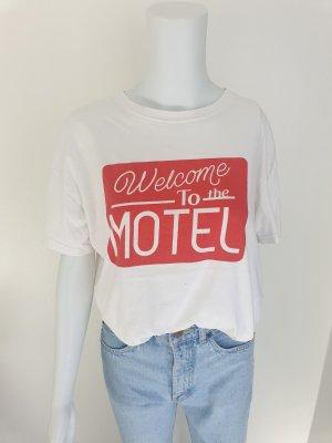 Bershka S T-shirt tshirt shirt croptop Tanktop hemd bluse pulli pullover Jacke Mantel Rot