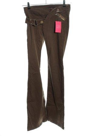 Bershka Pantalone a zampa d'elefante marrone stile casual