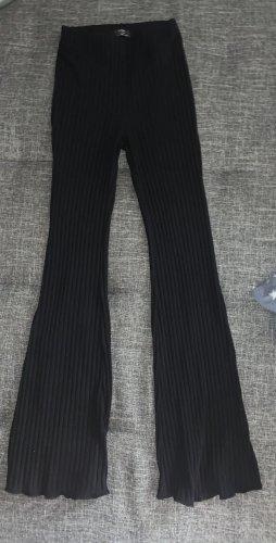 Bershka Pantalone a zampa d'elefante nero