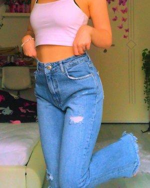 Bershka Jeans a zampa d'elefante multicolore