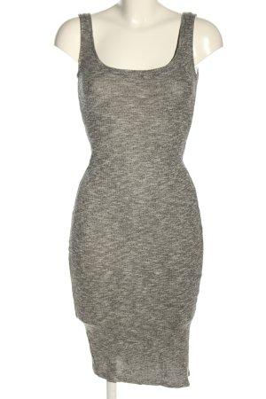 Bershka Vestido de tubo gris claro moteado look casual