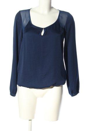 Bershka Schlupf-Bluse blau Casual-Look