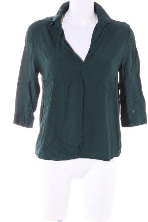 Bershka Schlupf-Bluse khaki Business-Look