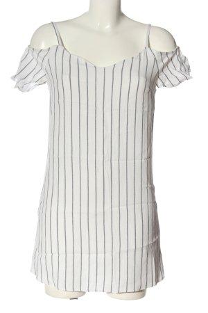 Bershka Schlupf-Bluse weiß-schwarz Streifenmuster Casual-Look