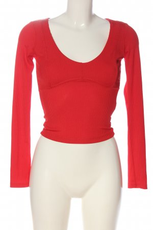 Bershka Schlupf-Bluse rot Casual-Look