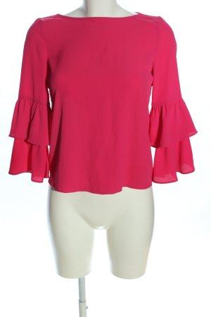 Bershka Schlupf-Bluse pink Casual-Look