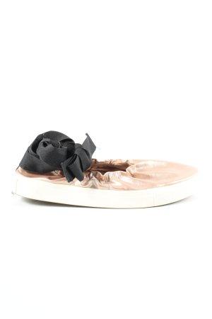 Bershka Schnürschuhe creme-schwarz Elegant