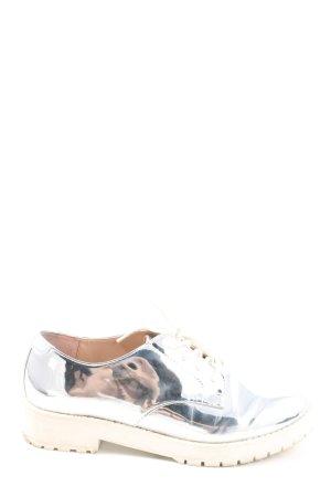 Bershka Schnürschuhe silberfarben Elegant