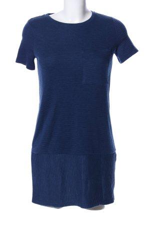 Bershka Shirtkleid blau Streifenmuster Casual-Look