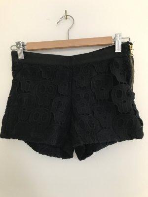 Bershka Short in schwarz