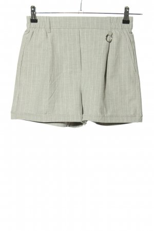Bershka Shorts light grey-white striped pattern casual look