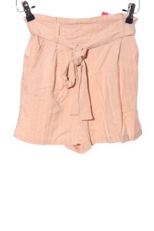 Bershka Shorts nude Streifenmuster Casual-Look