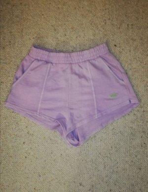 Bershka Short taille haute violet