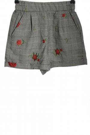 Bershka Shorts hellgrau Karomuster Casual-Look