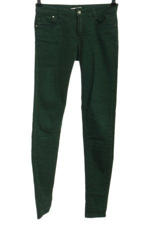 Bershka Skinny Jeans grün Casual-Look