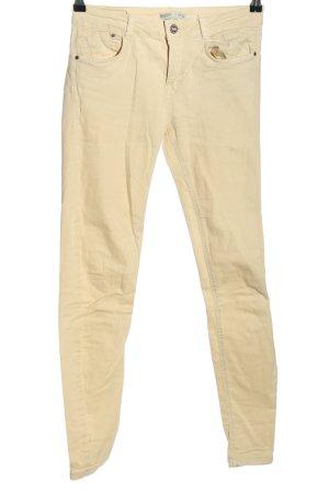 Bershka Skinny Jeans wollweiß Casual-Look