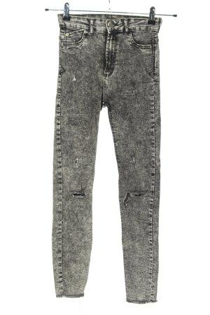 Bershka Skinny Jeans hellgrau Casual-Look