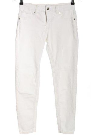 Bershka Skinny Jeans weiß Casual-Look