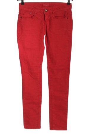 Bershka Jeans skinny rosso stile casual