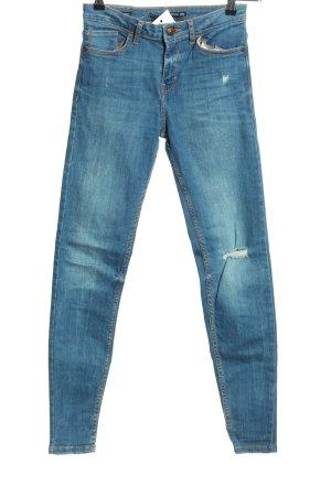 Bershka Skinny jeans blauw casual uitstraling
