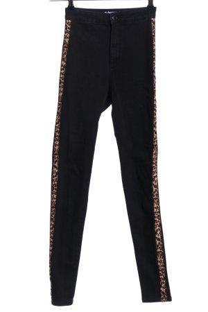 Bershka Skinny Jeans Animalmuster Casual-Look
