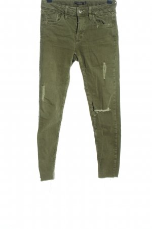 Bershka Skinny Jeans khaki Casual-Look