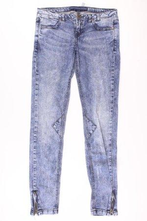 Bershka Skinny jeans blauw-neon blauw-donkerblauw-azuur Katoen