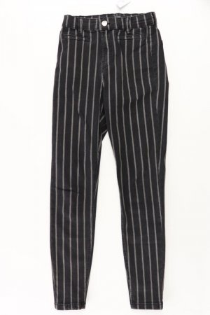 Bershka Skinny Jeans Größe 34 gestreift grau aus Baumwolle