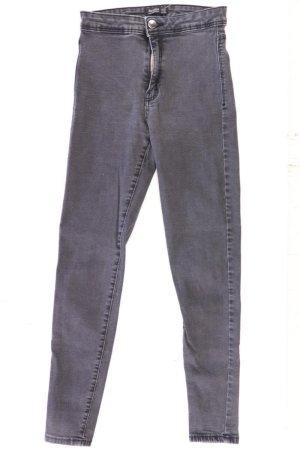 Bershka Skinny Jeans Größe 34 grau aus Baumwolle