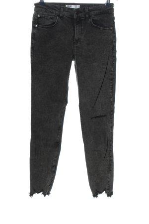 Bershka Jeansy o obcisłym kroju czarny W stylu casual