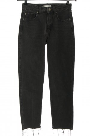 Bershka Slim Jeans schwarz Casual-Look