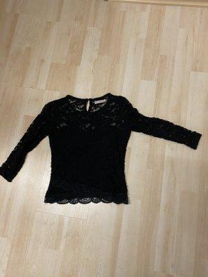 Bershka spitze Bluse schwarz S 36