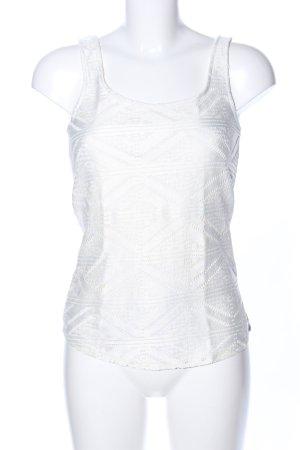 Bershka Top di merletto bianco motivo grafico stile casual