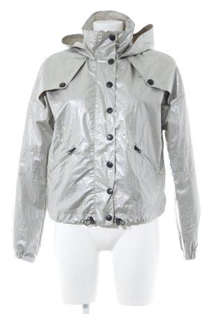 Bershka Sports Jacket silver-colored-black metallic look