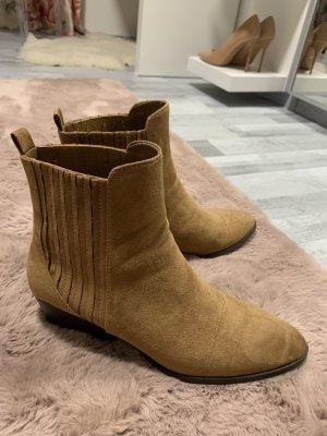 Bershka Stivale a gamba corta sabbia-marrone chiaro