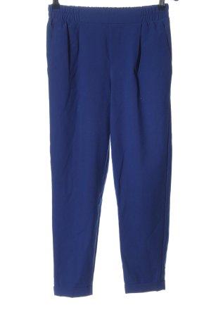 Bershka Spodnie materiałowe niebieski W stylu casual