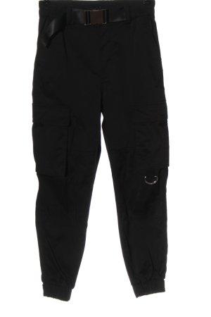 Bershka Pantalone jersey nero motivo a righe stile casual
